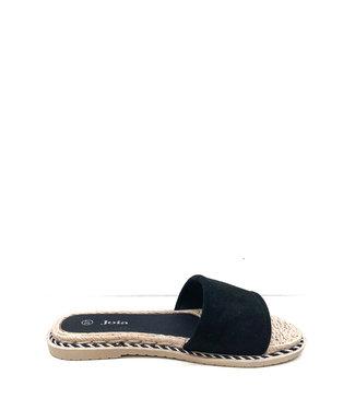 Slippers rotan | black