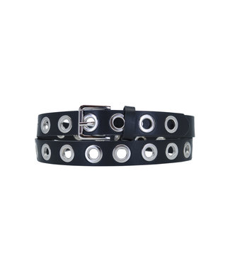Belt eyelets small square | black