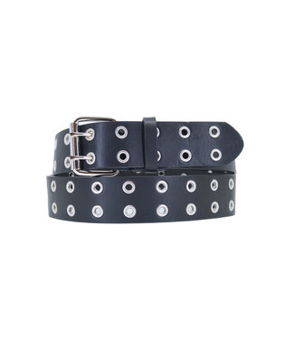 Belt double eyelets  | black