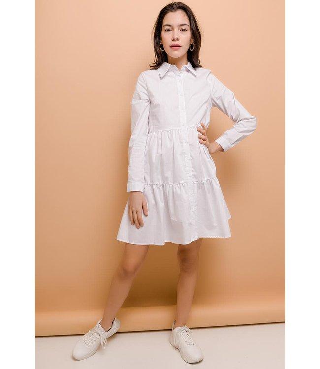 Loose cotton dress | white