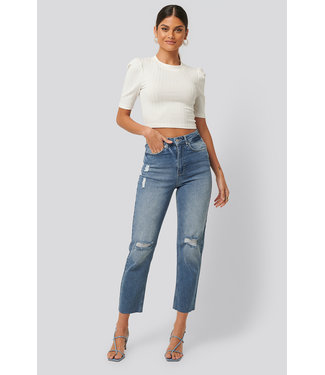 NA-KD Destroyed straight jeans 1100-002681