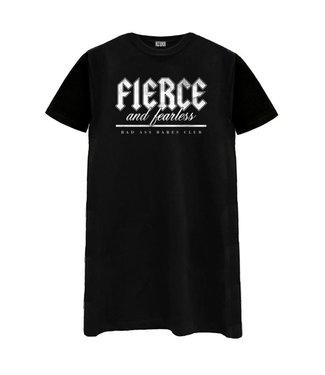 AZUKA T-shirt dress Fierce And Fearless- black