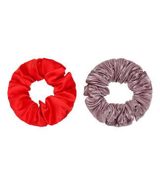 Scrunchie multicolor | red