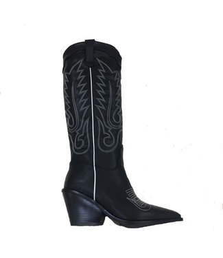 WESTERN HIGH BOOTS // black