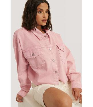 NA-KD Denim shirt 1018-005653 - light pink