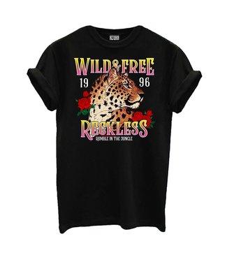 AZUKA T-shirt Wild And Free - black