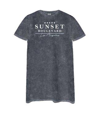 AZUKA T-shirt dress Sunset - acid