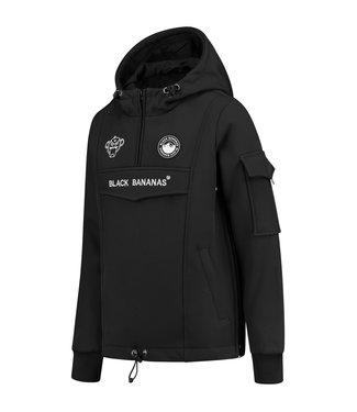 BLACK BANANAS Anorak Fleece Jacket - black