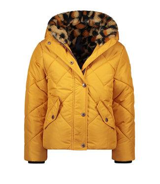 FLO Hooded jacket F007-5245 oker