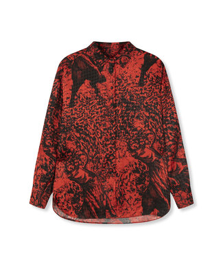 ALIX Big bull blouse - warm red