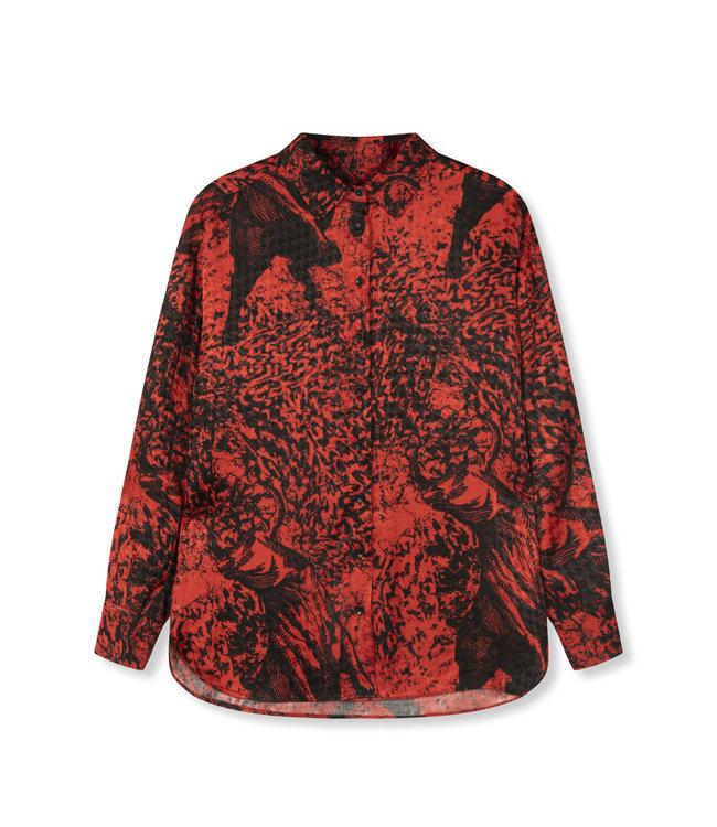 Big bull blouse - warm red