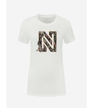 NIKKIE Ikat N Logo T-shirt 6417 - star white