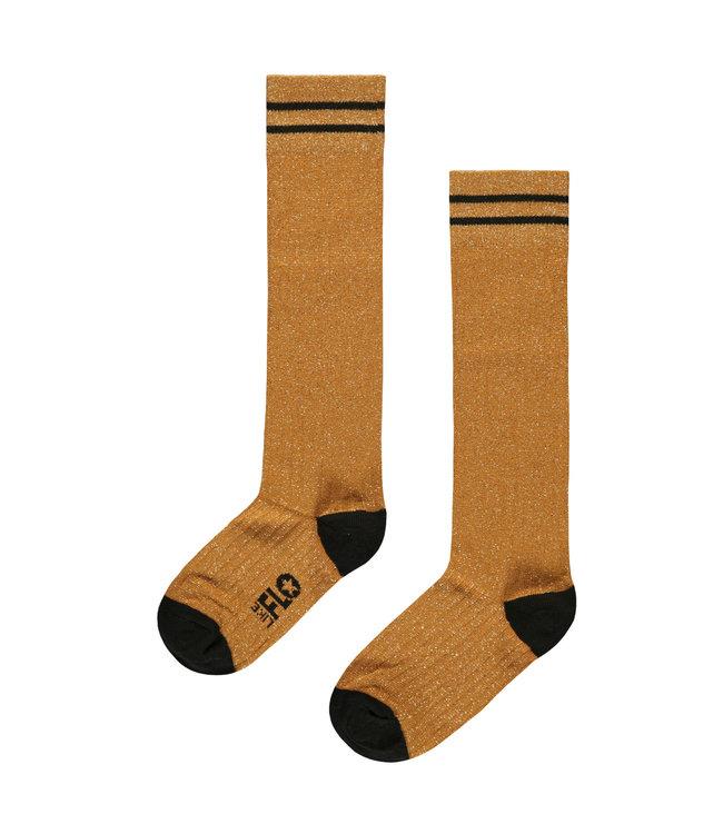 Lurex sock F008-5945 oker