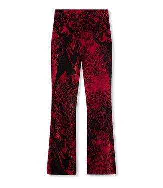 ALIX Big bull flared pants - warm red