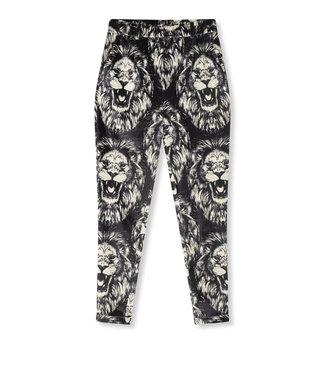 ALIX Lion velvet pants - black