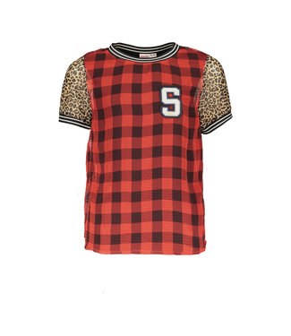 STREET CALLED MADISON Woven check top S008-5411