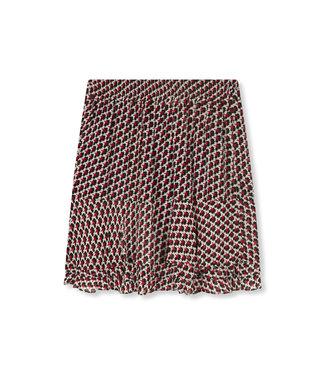ALIX Star chiffon skirt - warm red