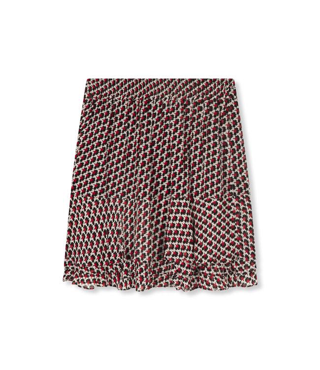 Star chiffon skirt - warm red