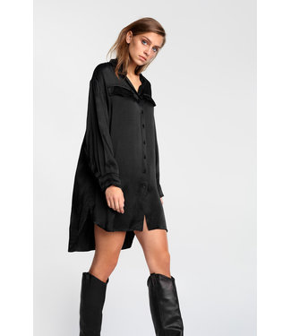 ALIX Satin blouse - black