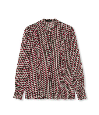 ALIX Star chiffon blouse - warm red