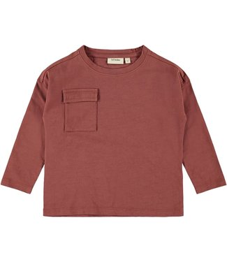 Lil Atelier NMMGOPPO Loose top 13181909 - Mahogany