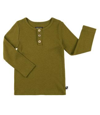 CarlijnQ Longsleeve three buttons - groen