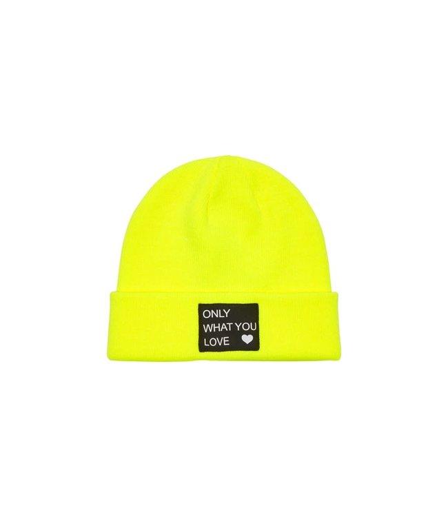 KONMADISON LOGO BEANIE 15212035 Safety Yellow