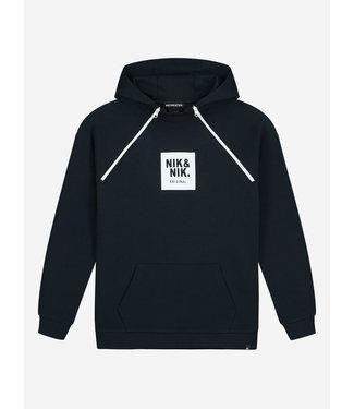 NIK & NIK Maks Hoodie 8024 - faded dark blue
