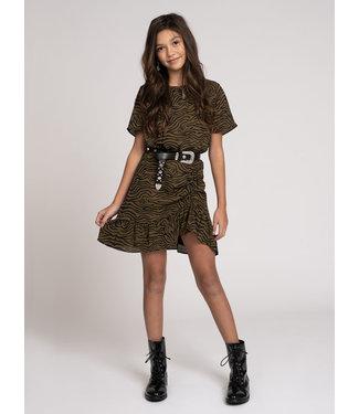 NIK & NIK Valerie Zebra Dress 5078 - military green