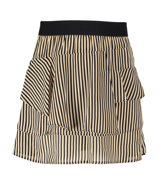Pelli Skirt - striped cream/black