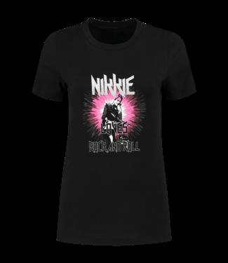 NIKKIE Rock & Roll T-shirt 6440 - black