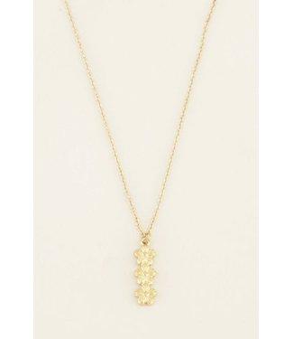 My Jewellery Ketting drie bloemetjes - goud