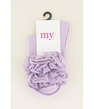 My Jewellery Sokken met ruffles - lila