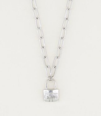My Jewellery Ketting  met Slot amour // silver