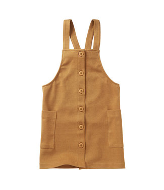 MINGO Jacquard Pinafore Dress Ochre