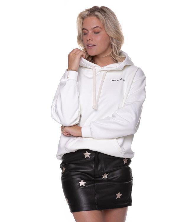 9087 - Giselle PU Star Skirt Black/Gold
