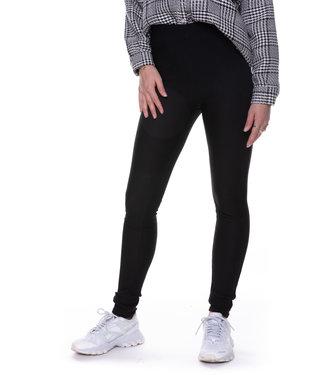 Colourful Rebel 9135 - Janelle Rib Pants Black