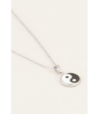 My Jewellery Ketting yin yang MJ03645 - silver