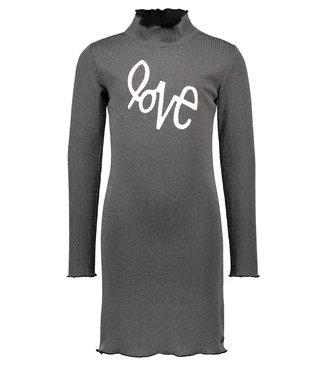 FLO Lurex dress F009-5836 silver