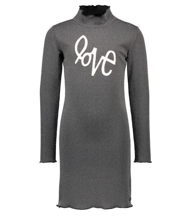 Lurex dress F009-5836 silver