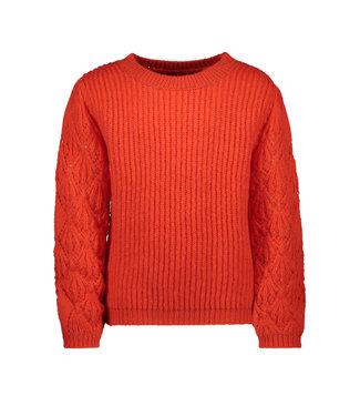 FLO Ajour sweater F009-5341 pumpkin