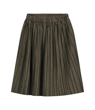 DAILY BRAT Donna plisse skirt - dark olive