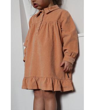 DAILY BRAT Lilyan corduroy dress - copper rose