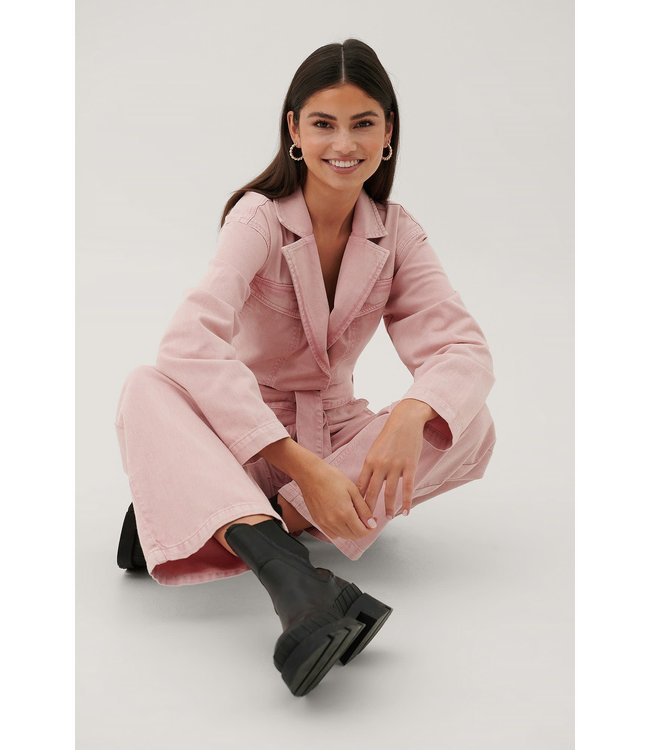Denim jumpsuit 1672-000036 pink