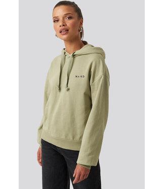 NA-KD Logo hoodie 1044-000119  green