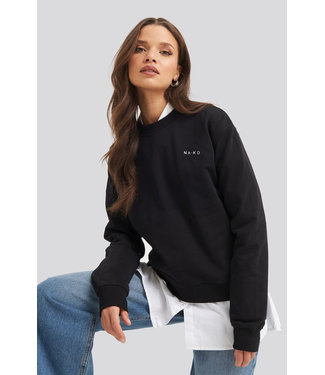 NA-KD Logo sweater 1044-000118 - black
