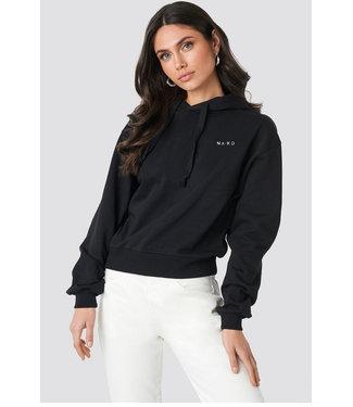NA-KD Logo hoodie 1044-000119  black