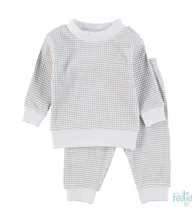 Wafel pyjama  | grijs