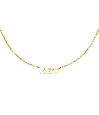 Necklace Dotted XOXO - gold
