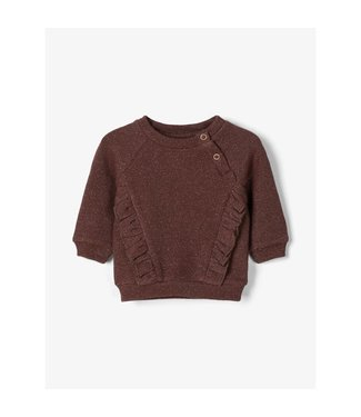 Lil Atelier NBFEISA Sweat 13183502 - mahogany/gold